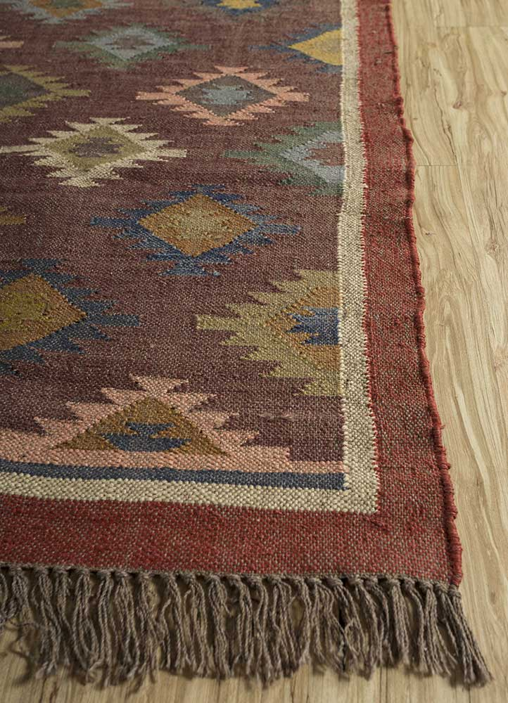 bedouin beige and brown jute and hemp jute rugs Rug - Corner