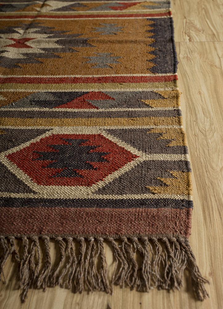 bedouin gold jute and hemp jute rugs Rug - Corner