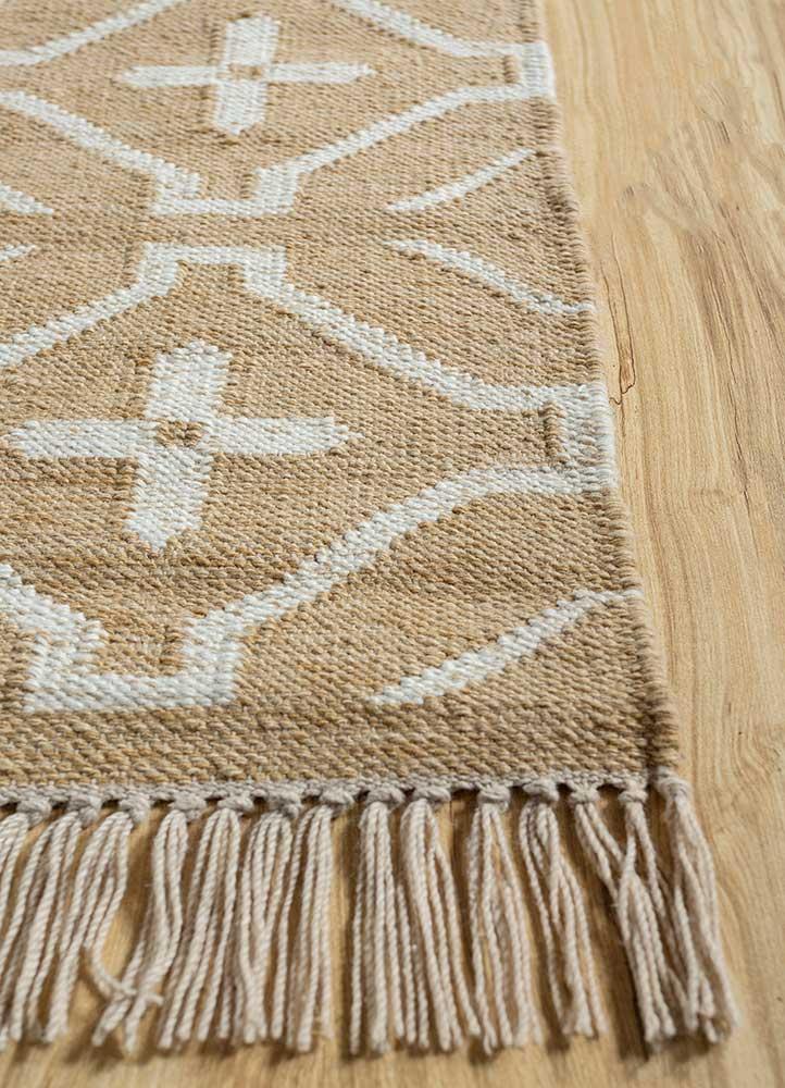 anatolia grey and black wool flat weaves Rug - Corner