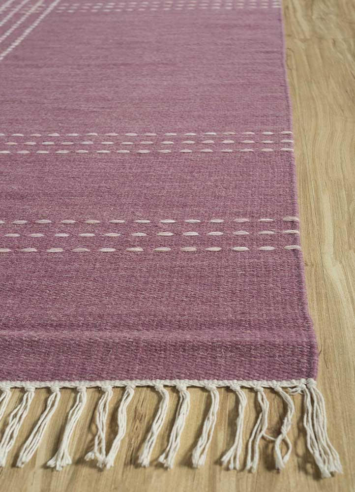 anatolia red and orange wool flat weaves Rug - Corner