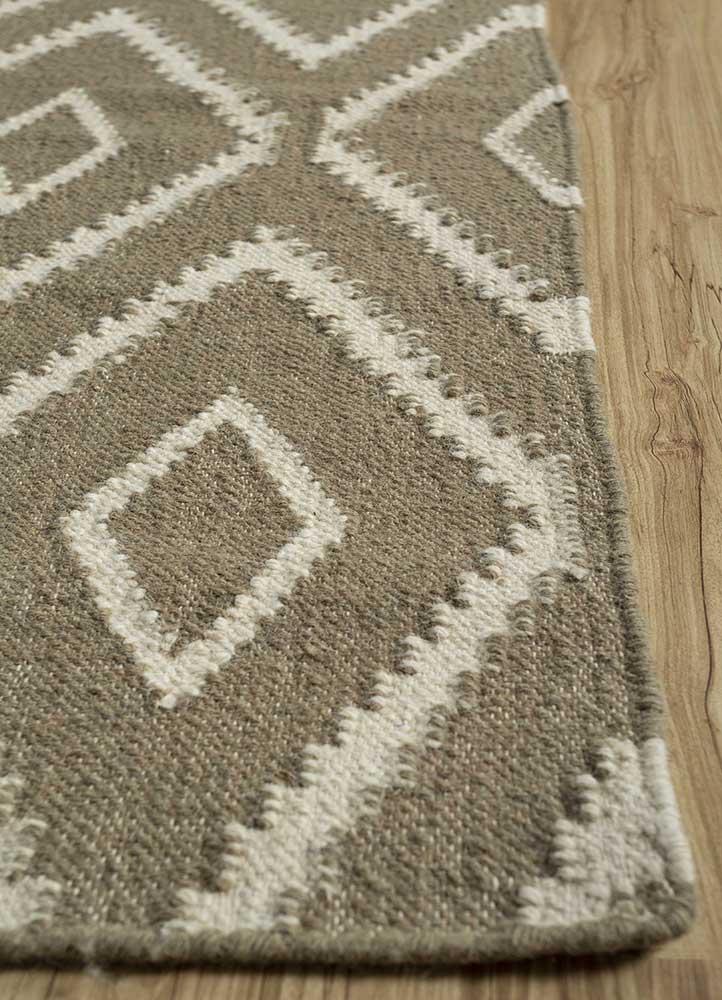 anatolia gold wool flat weaves Rug - Corner