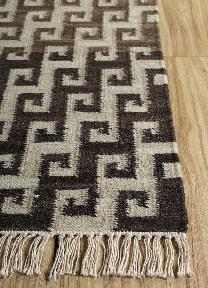 souk ivory wool flat weaves Rug - Corner