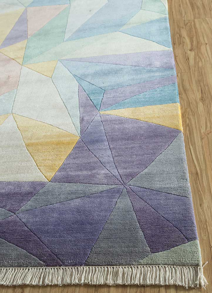 geode ivory others hand knotted Rug - Corner