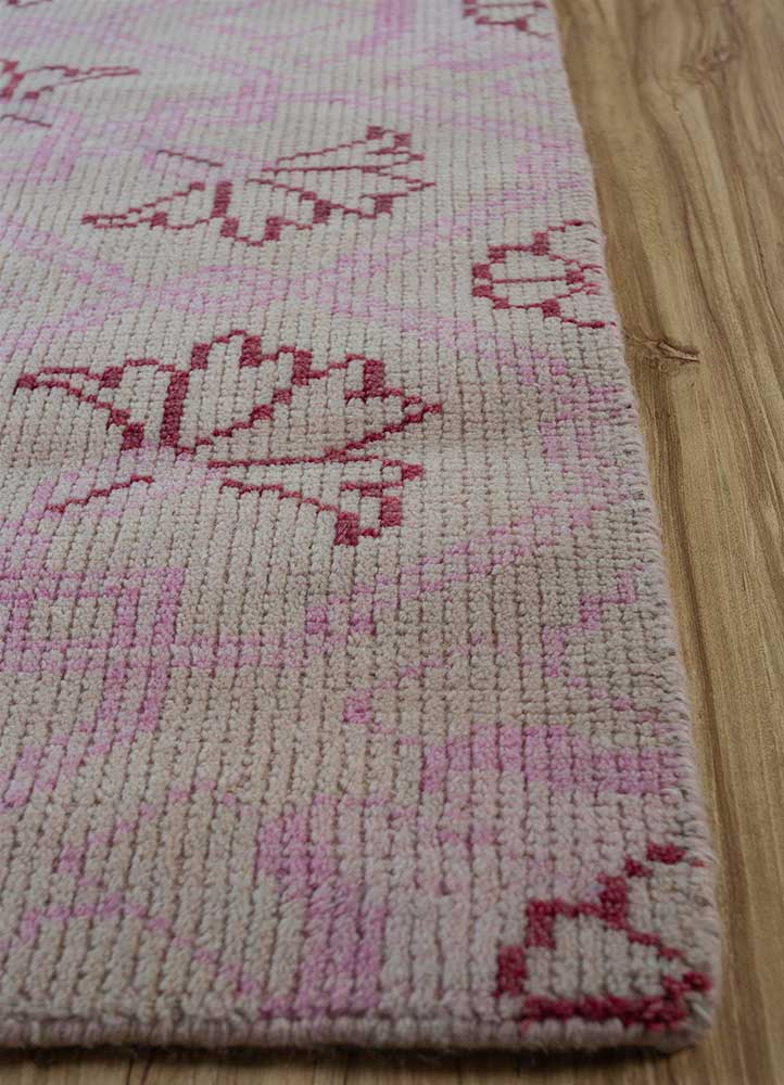 erbe red and orange wool hand knotted Rug - Corner