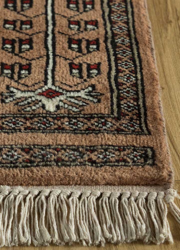 kiaan beige and brown wool hand knotted Rug - Corner