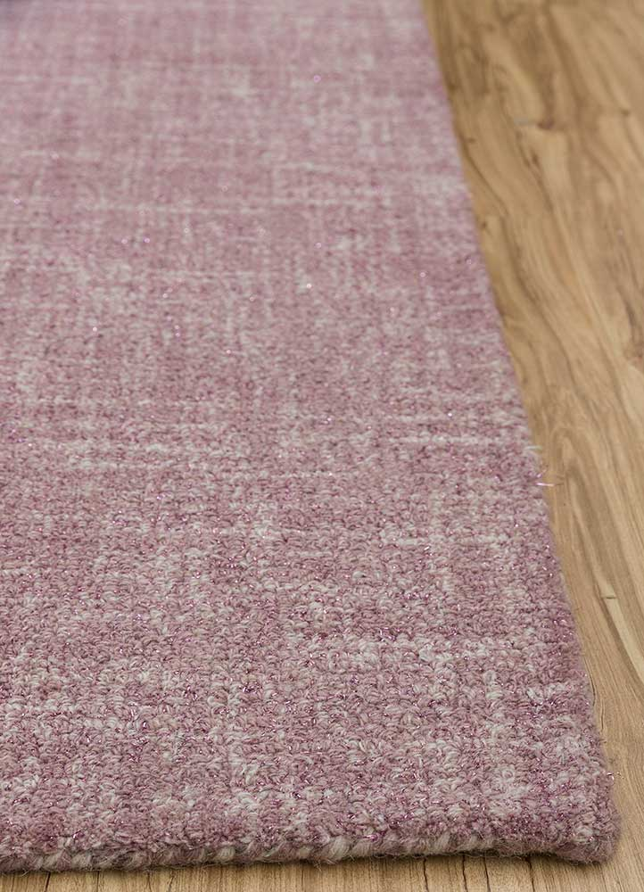 shudd pink and purple others hand tufted Rug - Corner