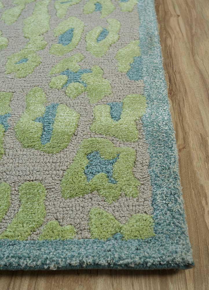 midtown by artemis ivory wool and viscose hand tufted Rug - Corner