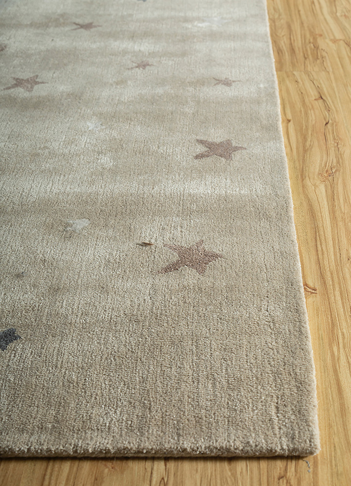 confetti ivory wool and viscose hand tufted Rug - Corner