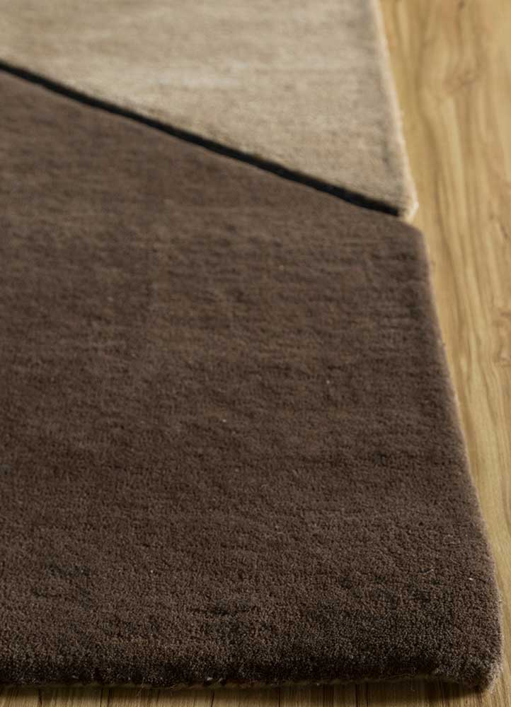 concoction beige and brown wool and viscose hand tufted Rug - Corner