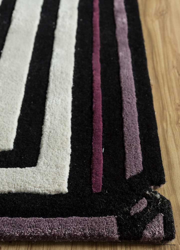 concoction pink and purple wool and viscose hand tufted Rug - Corner