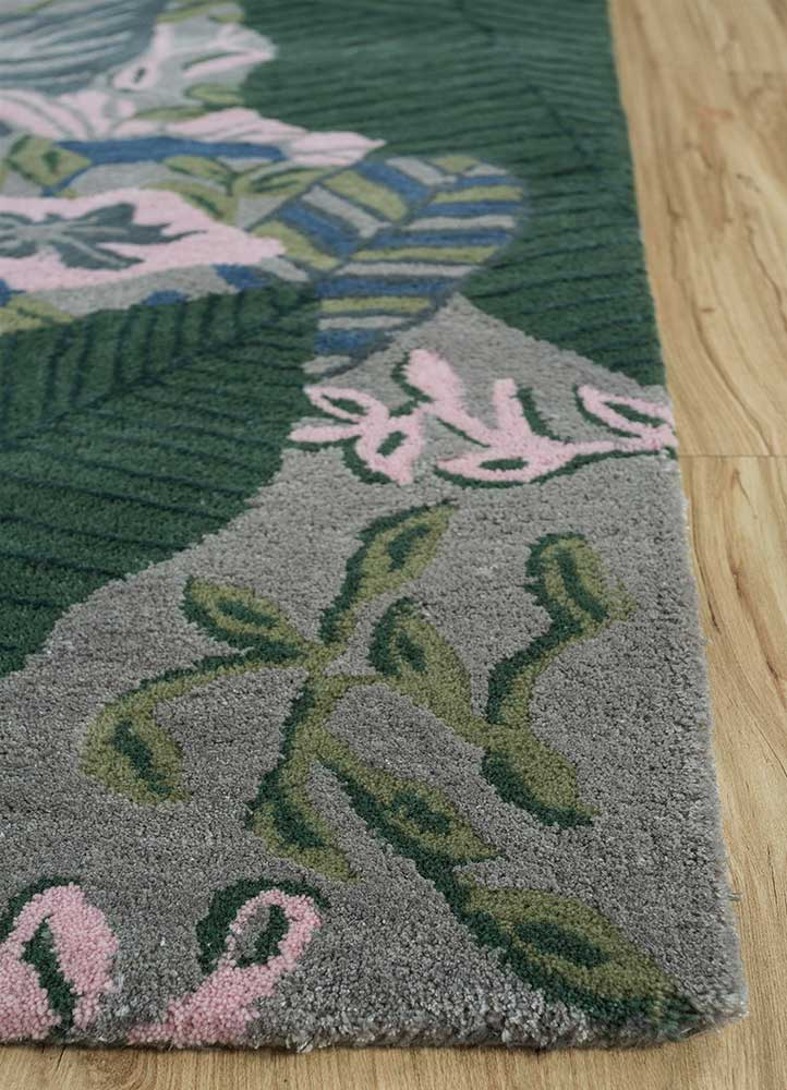 traverse blue wool and viscose hand tufted Rug - Corner