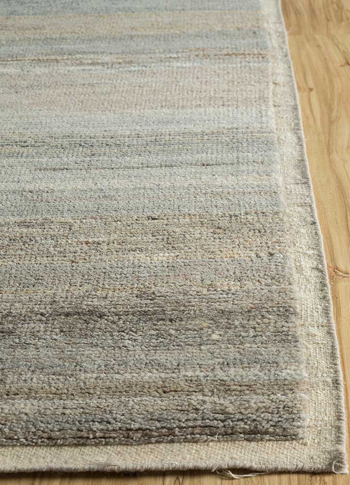 legion beige and brown wool hand knotted Rug - Corner