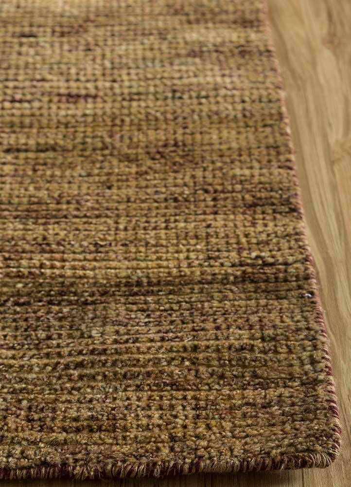 legion gold wool hand knotted Rug - Corner