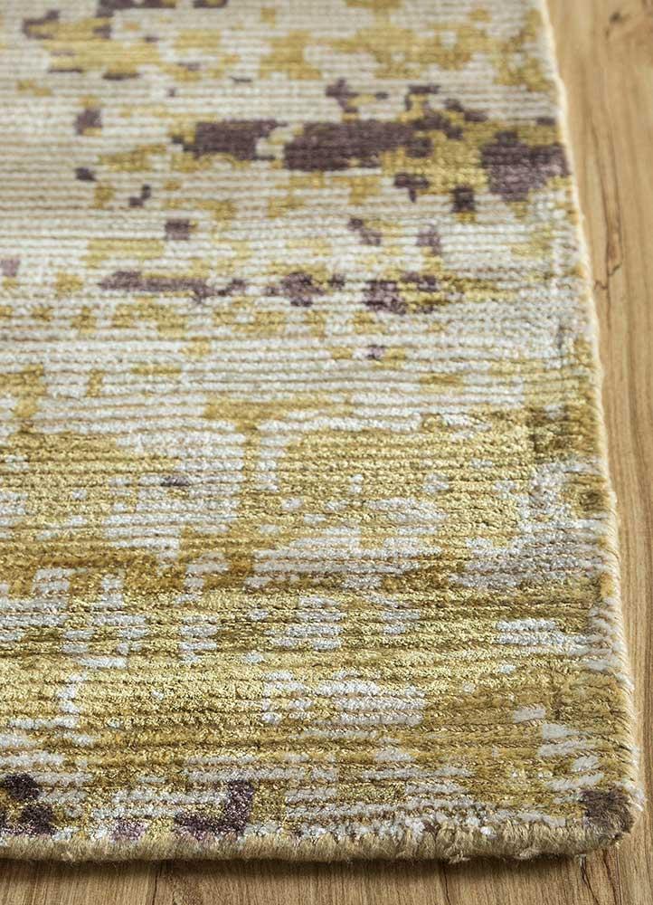 acar ivory wool hand loom Rug - Corner