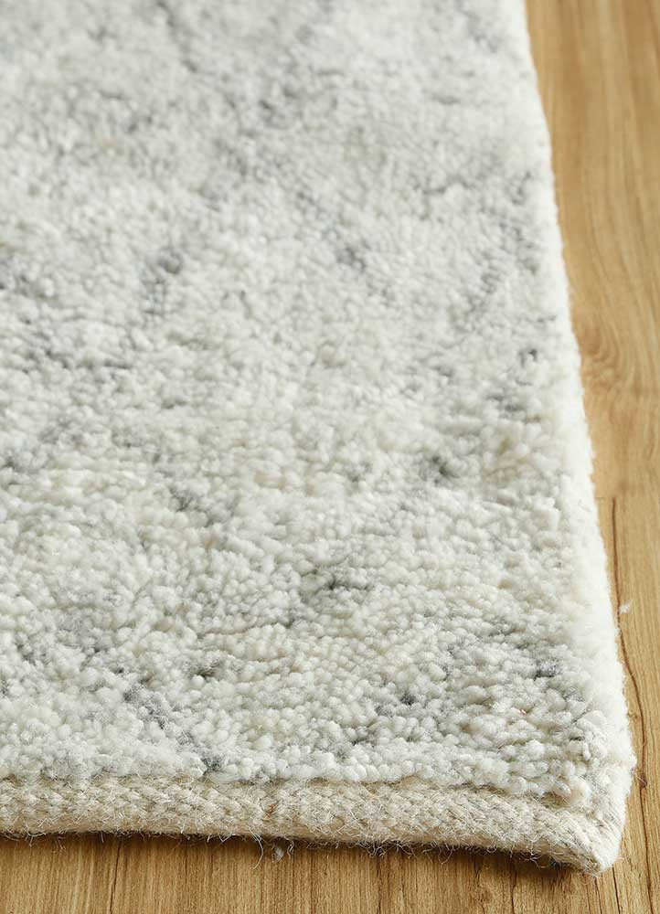 zuri ivory others hand knotted Rug - Corner