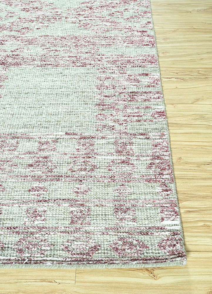 revolution grey and black wool and viscose hand knotted Rug - Corner