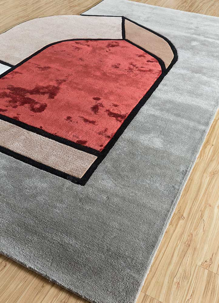 concoction grey and black wool and viscose hand tufted Rug - FloorShot