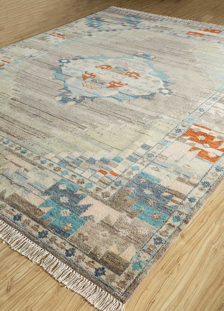 liberty grey and black wool hand knotted Rug - FloorShot