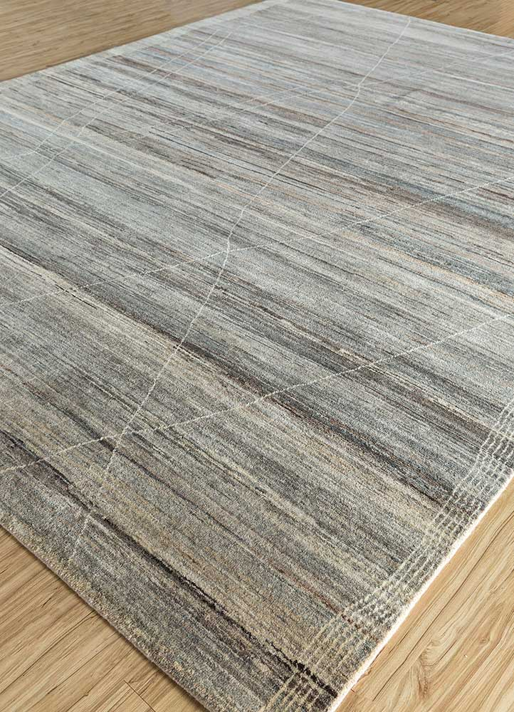 manifest beige and brown wool hand knotted Rug - FloorShot