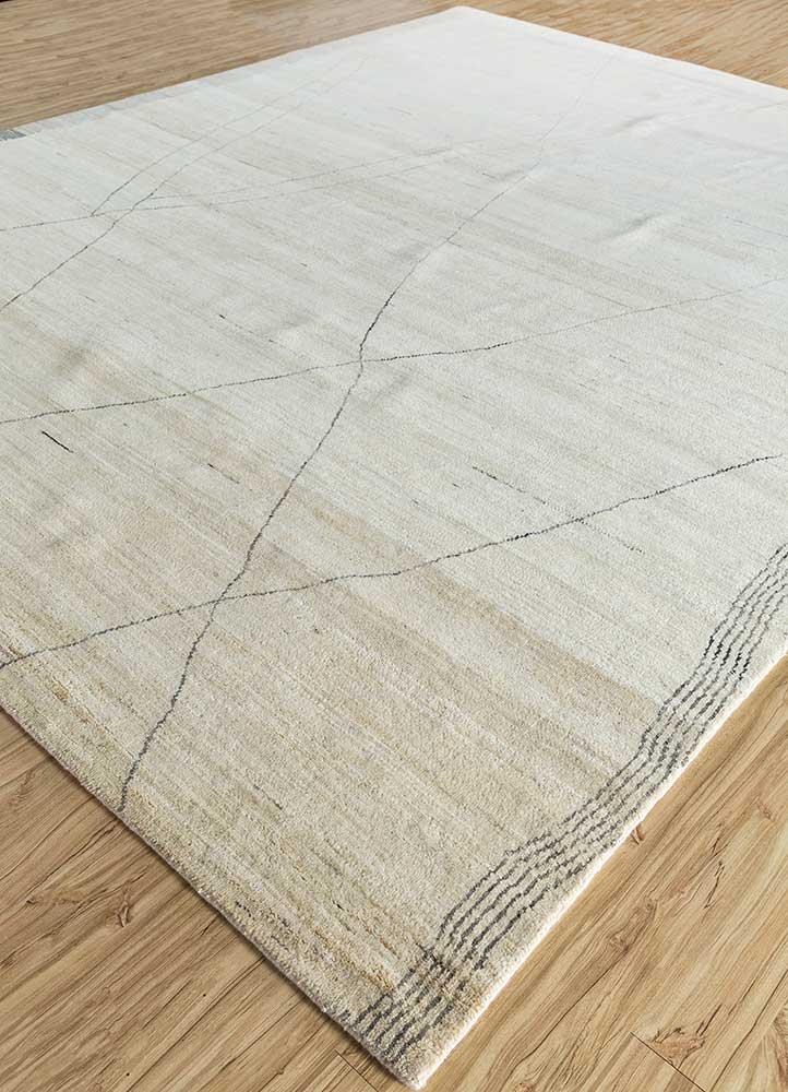 manifest ivory wool hand knotted Rug - FloorShot