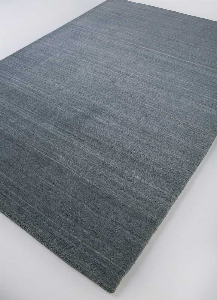 tesoro blue wool and viscose hand loom Rug - FloorShot