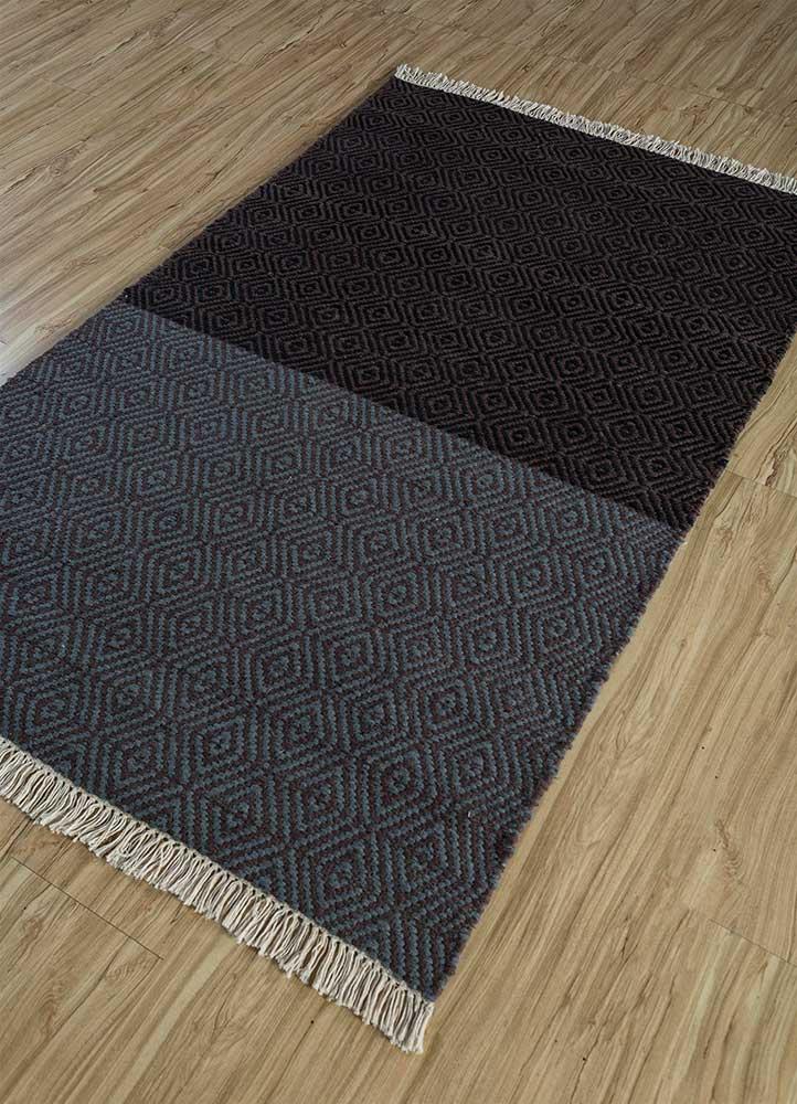 indusbar multi wool flat weaves Rug - FloorShot