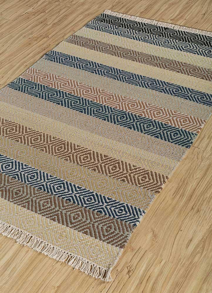 kaross multi wool flat weaves Rug - FloorShot