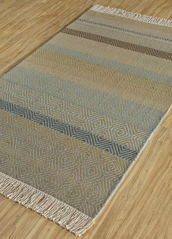 kaross gold wool flat weaves Rug - FloorShot