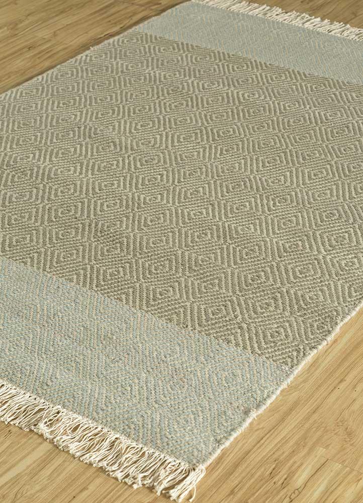 kaross green wool flat weaves Rug - FloorShot