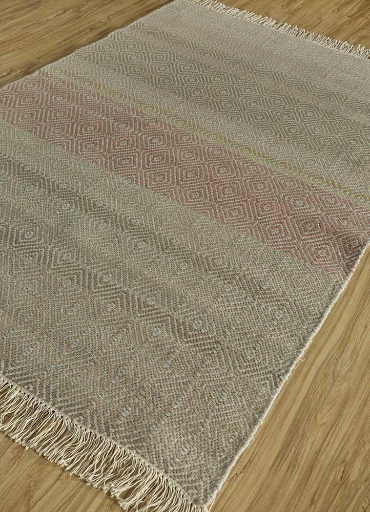 kaross ivory wool flat weaves Rug - FloorShot