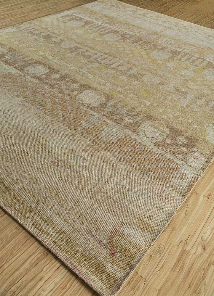 viscaya gold wool hand knotted Rug - FloorShot
