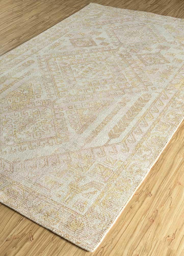 oxford ivory wool and bamboo silk hand loom Rug - FloorShot