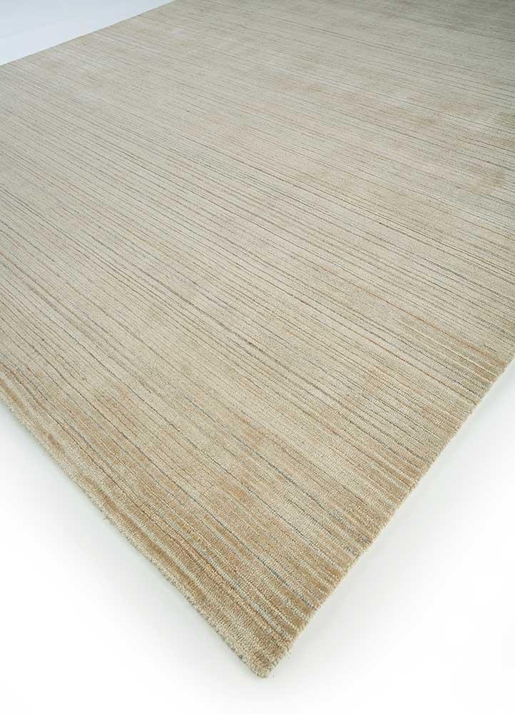 oxford beige and brown wool hand loom Rug - FloorShot