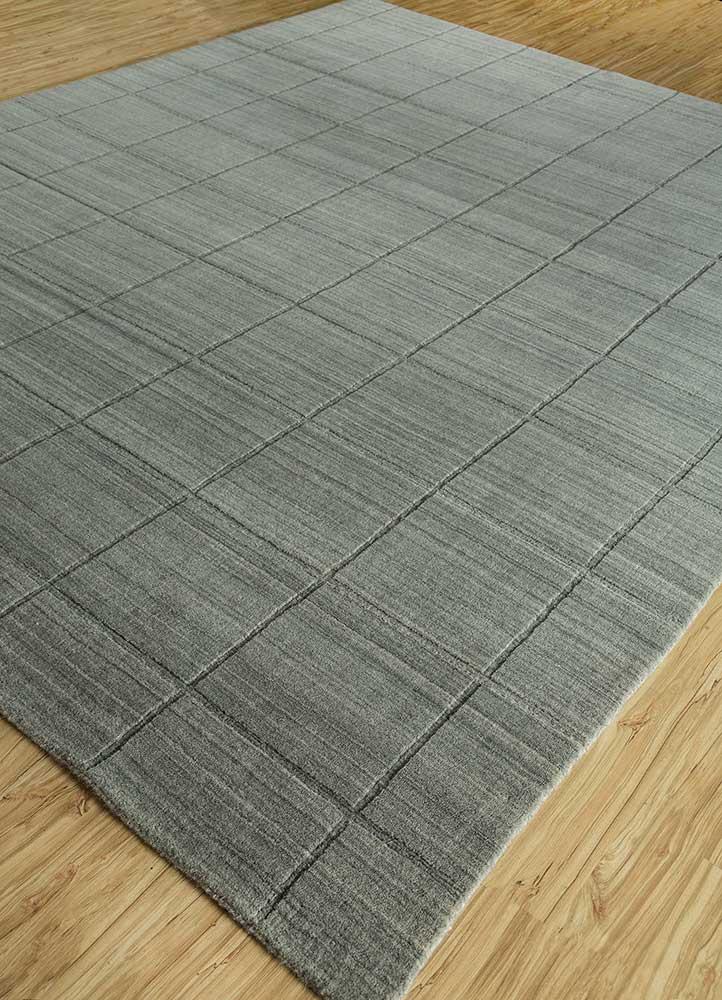 graze beige and brown wool hand loom Rug - FloorShot