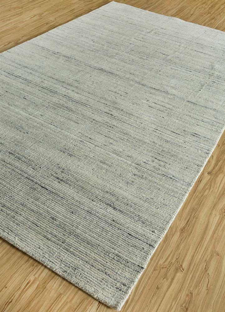 basis ivory wool hand loom Rug - FloorShot