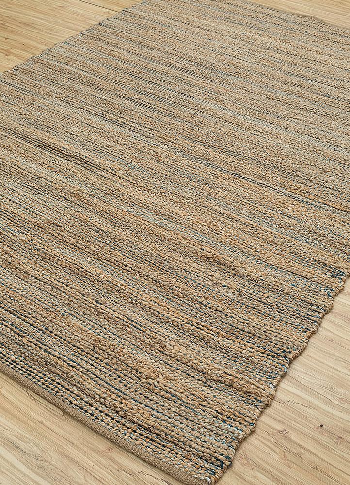 abrash blue jute and hemp jute rugs Rug - FloorShot