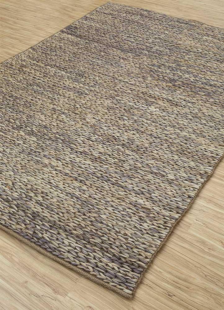 abrash blue jute and hemp flat weaves Rug - FloorShot