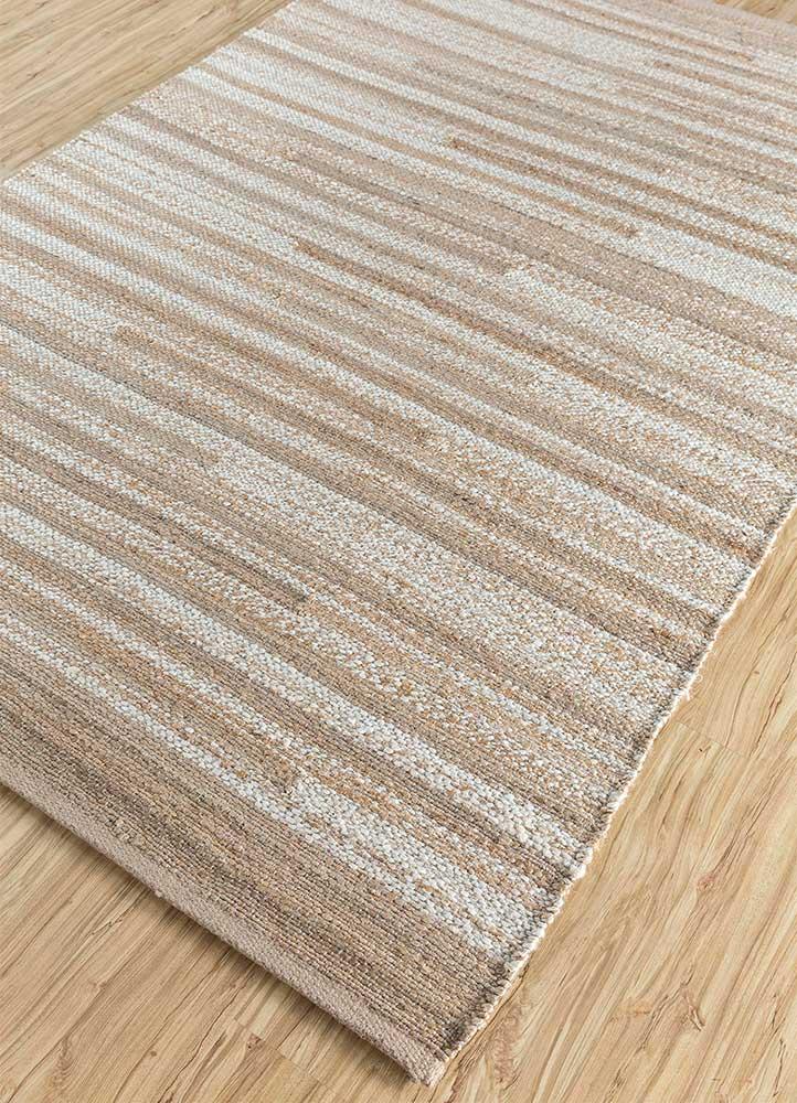 spatial ivory jute and hemp flat weaves Rug - FloorShot