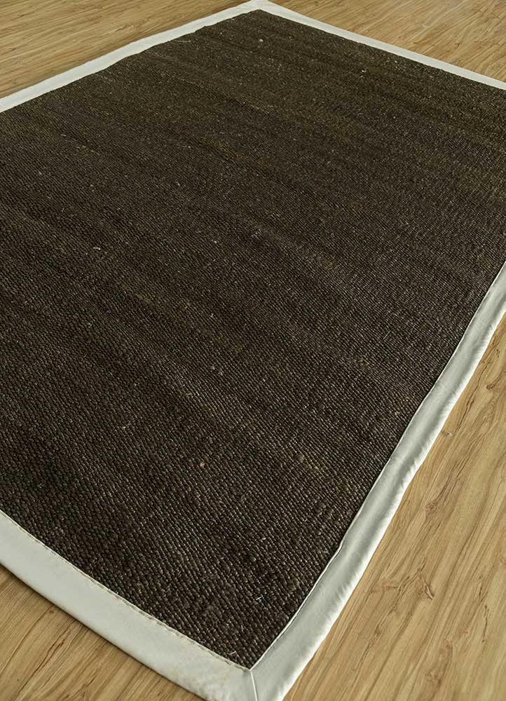 abrash grey and black jute and hemp flat weaves Rug - FloorShot