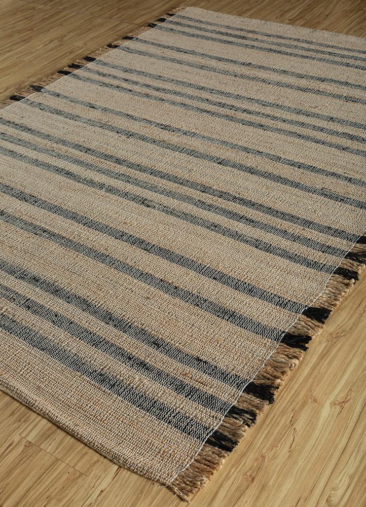 aqua beige and brown jute and hemp jute rugs Rug - FloorShot
