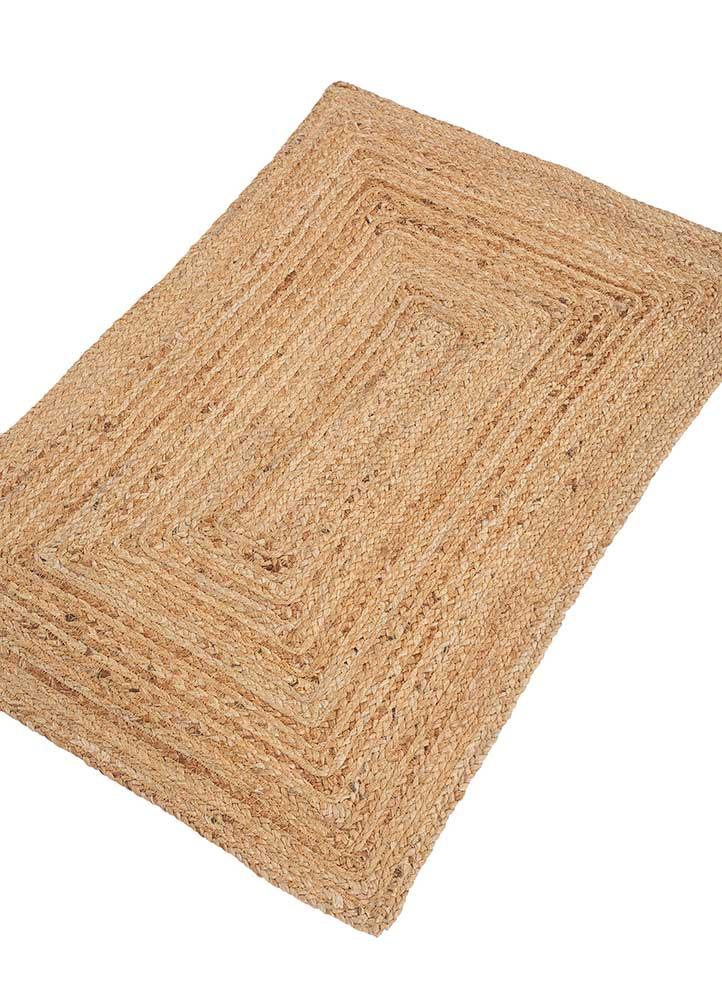 abrash beige and brown jute and hemp jute rugs Rug - FloorShot
