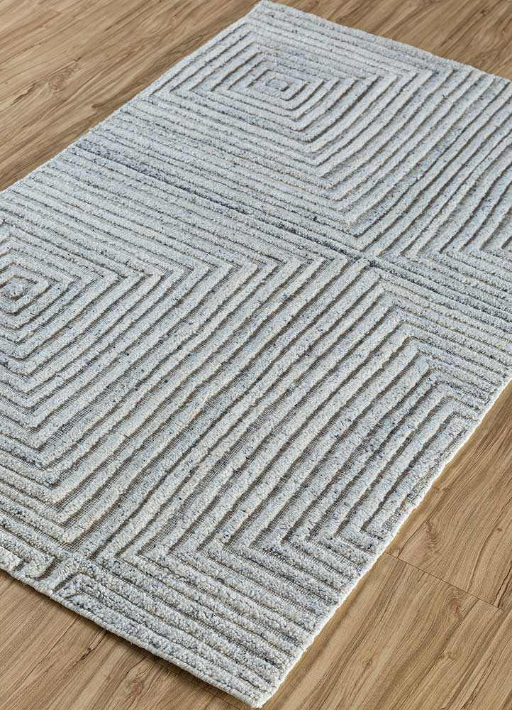 graze ivory viscose hand loom Rug - FloorShot