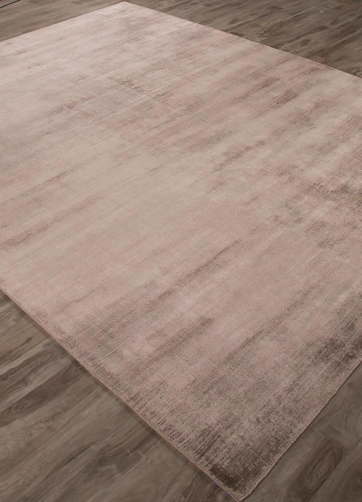 yasmin beige and brown viscose hand loom Rug - FloorShot