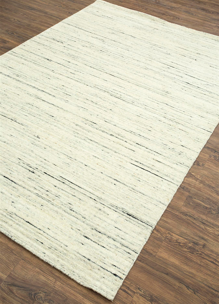 eron beige and brown wool hand loom Rug - FloorShot
