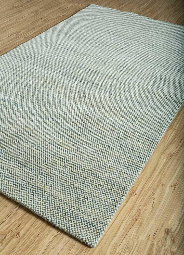 graze green wool hand loom Rug - FloorShot