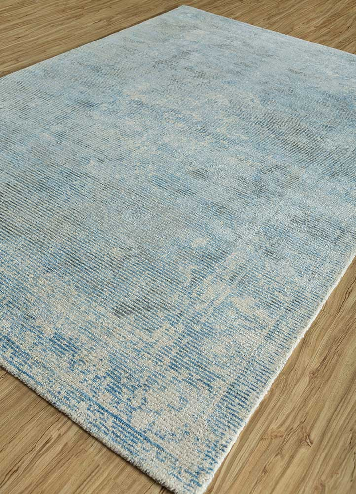 oxford ivory wool and viscose hand loom Rug - FloorShot