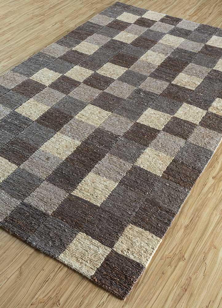 anatolia grey and black jute and hemp jute rugs Rug - FloorShot