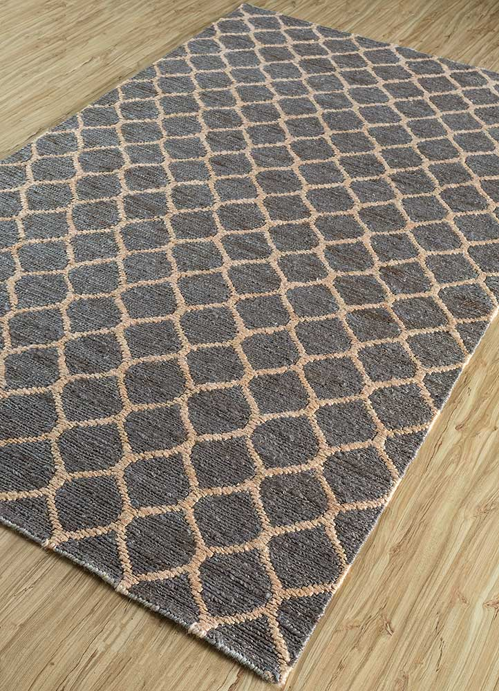 spatial grey and black jute and hemp jute rugs Rug - FloorShot