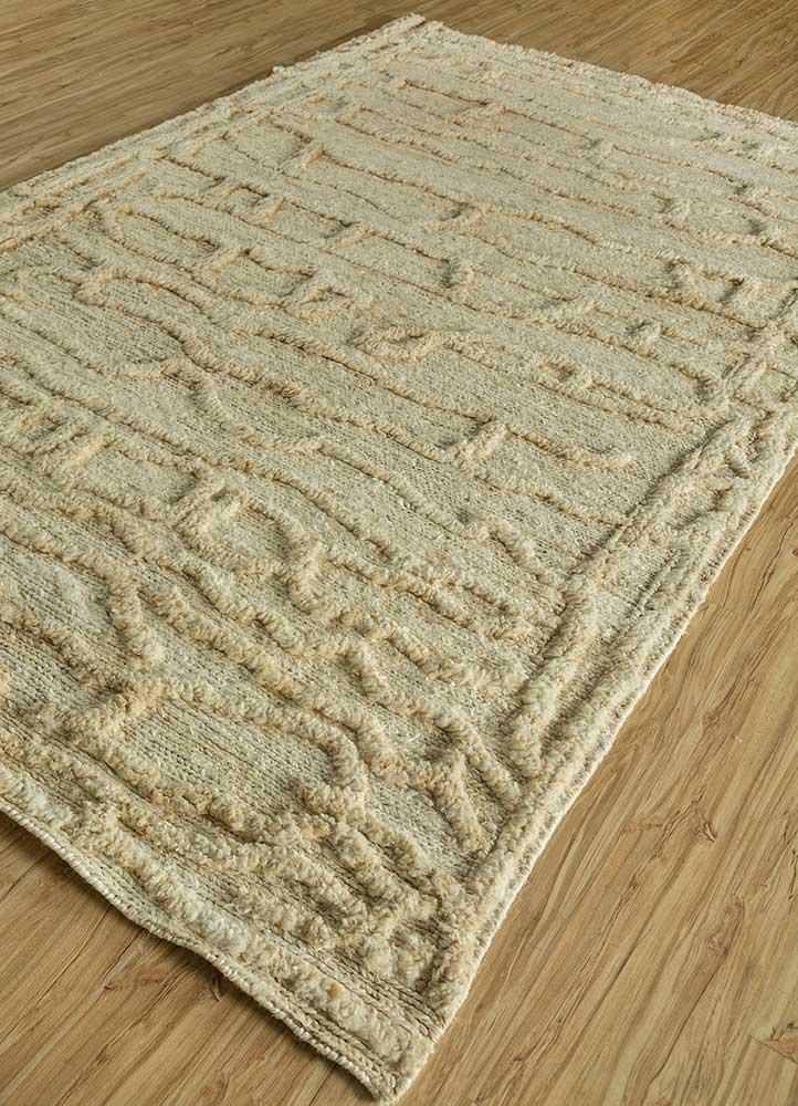 abrash ivory jute and hemp flat weaves Rug - FloorShot