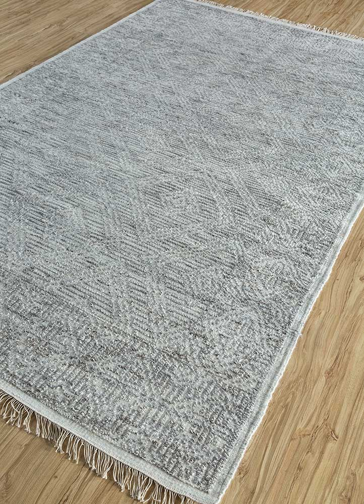 revolution ivory wool and viscose hand knotted Rug - FloorShot
